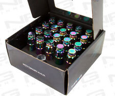 NRG STEEL LOCKING LUG NUTS WITH DUST CAP COVER SET 12X1.5 NEO CHROME (Set of 20)