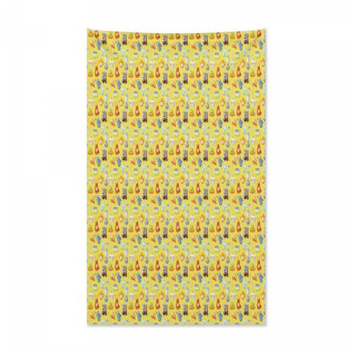 Bunt Wandteppich und Tagesdecke gelb Küchen Druck