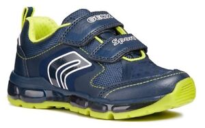 4f25ff659806 Geox J Android A Light Up Navy/Lime Trainers - 100% Positive Reviews