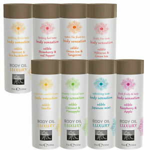 Massageöl Körperöl Liebesöl 75ml essbar Verzehrbar mit Geschmack Aroma Duft