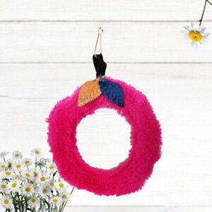 Pequeno-anillo-de-peluche-para-mascotas-Hojas-decoradas-Swing-Circular-Parrot-To