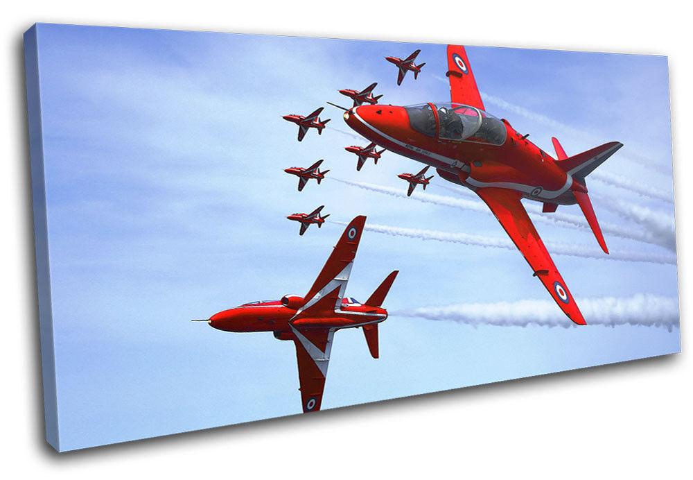 RAF Planes rot Arrows Transportation SINGLE Leinwand Kunst Bild drucken