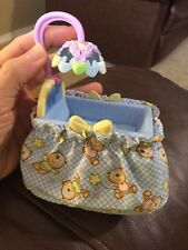 Fisher Price Loving Family Dollhouse Blue Baby Boy Doll Crib Cradle Nursery