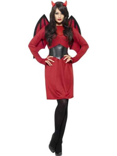 Wings Demon Womens Ladies Halloween Fancy Dress Outfit Economy Devil Costume