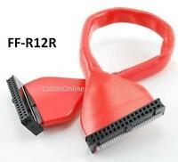 12inch 34-pin Round Idc Floppy 1-drive/device Red Cable, Cablesonline Ff-r12r