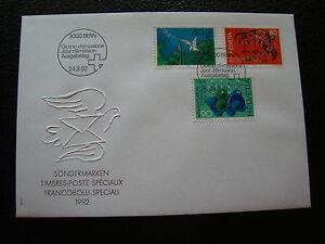 Switzerland-Envelope-1er-Day-24-3-1992-cy77-Switzerland