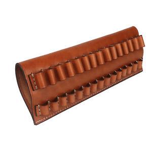 Tourbon-Hunting-Shells-Holder-Cartridge-Pouch-Belt-Slide-Genuine-Leather-Vintage
