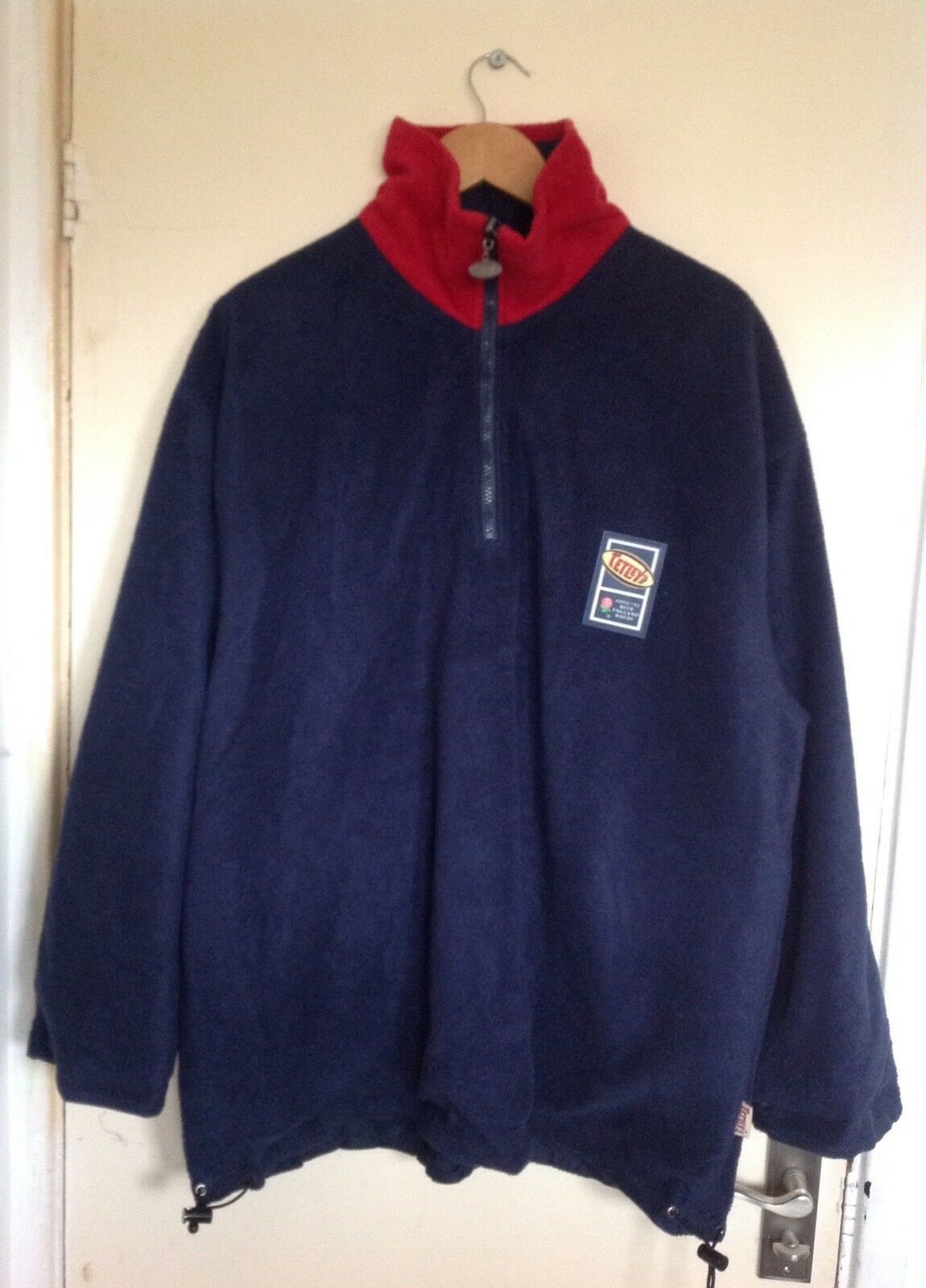 Men's bluee Tetley's Double Sided Reversible Coat England Rugby Team Size XL