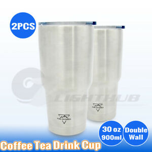 2PCS-30oz-Coffee-Tea-Mug-Double-Wall-Office-Gym-Camping-Car-Cup-Water-Bottle