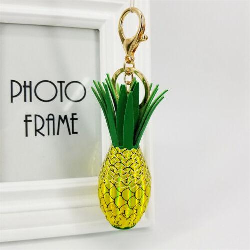 1PC Pineapple /& Strawberry Fruit Pendant Keyring Women Handbag Pendant Key Chain