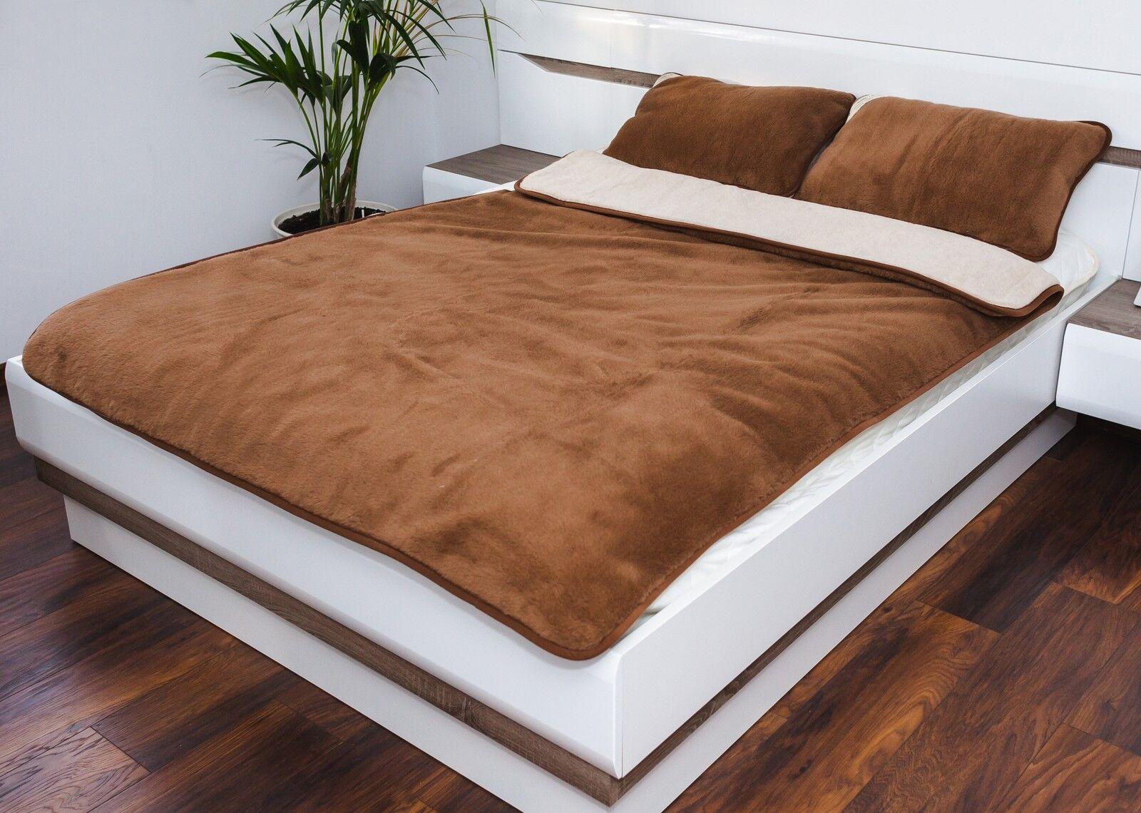 exklusiv ber decke kamel 100 merino wool braun kamel bettdecke 160 x 200 cm ebay. Black Bedroom Furniture Sets. Home Design Ideas