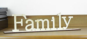 Family Free Standing Wooden Sign Home Decor Housewares