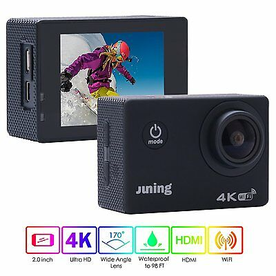 Action Kamera Juning 4k Wifi Ultra Hd 2 Zoll Display 1080p Pixel /170° Sportcam Duftendes In Aroma