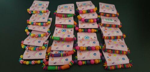 20x Kinder Armband Holz Gastgeschenke Mitgebsel Mädchen Kindergeburtstag Schmuck