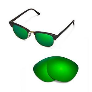 Walleva-Polarized-Emerald-Lenses-For-Ray-Ban-Clubmaster-RB3016-49mm-Sunglasses