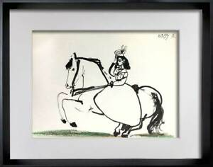 Pablo-PICASSO-Lithograph-LIMITED-Edition-034-10-3-59-IX-034-w-Cat-Ref-C112-FRAME