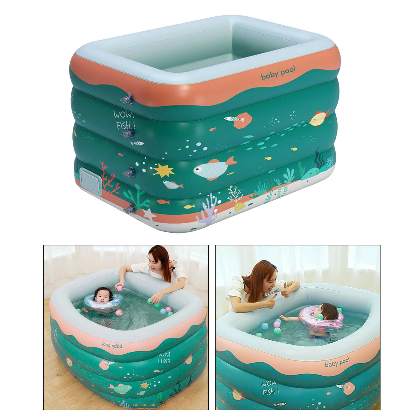 Inflatable Swimming Pool Family Kid Adult Garden Paddling Bath Tub Water Toy