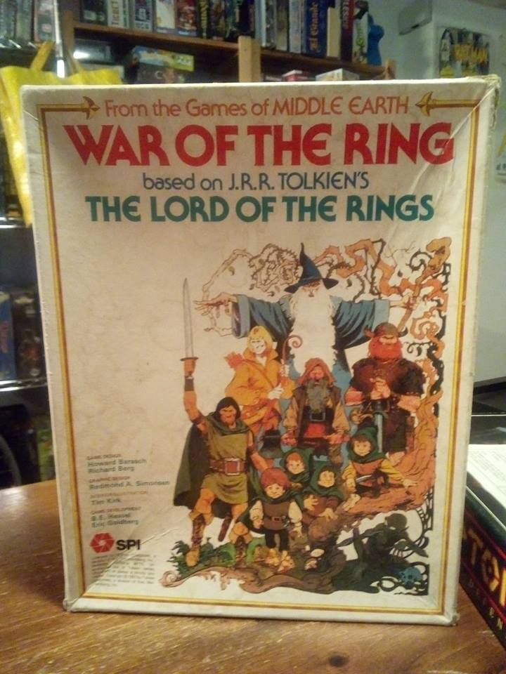 SPI War of the Ring Boardgame Collector's Piece LotR Tolkien Game