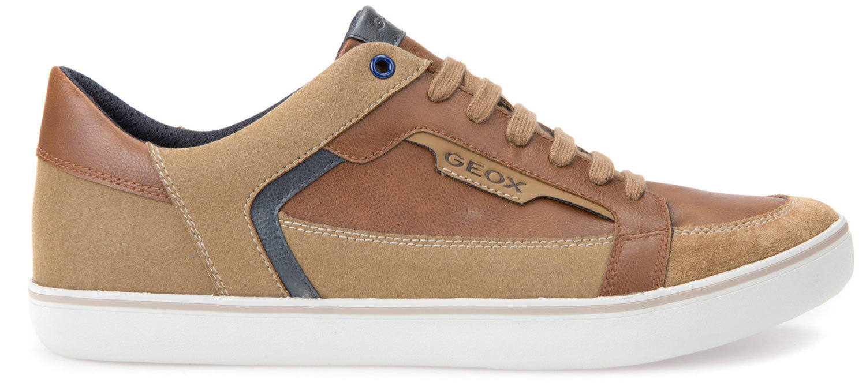 Geox Halver Herren Sneakers Freizeitschuhe U743ac-054au/c6607 Braun Cognac Neu