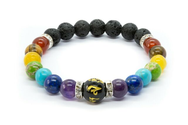 Chakra Bracelet. Anxiety Crystal Healing Stones. Women's Bracelet Jewellery