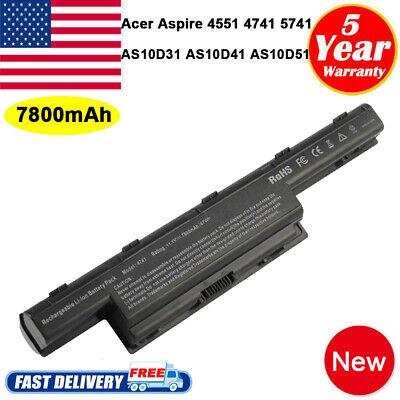 7800MAH BATTERIA Fr Acer AS10D31 AS10D51 per Aspire 4551 4741 5750 7551 7560 7750