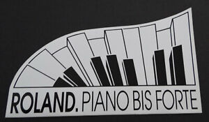 Promotional Stickers Roland Piano To Forte Keyboard Synthesiser Piano 80er