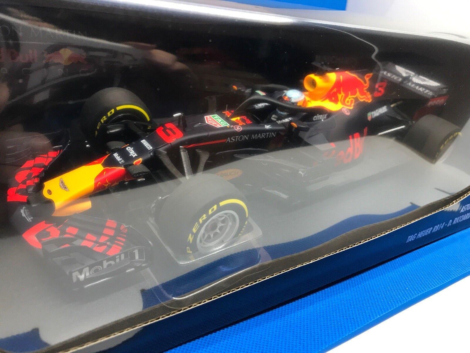 1 18 ASTON MARTIN rouge Bull Racing Tag Heuer rb14  3 Ricciardo GP Australie'18