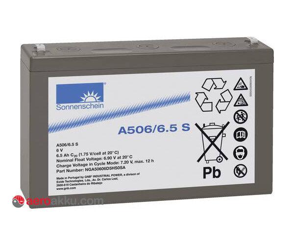Sonnenschein A506 6.5S Blei-Gel Akku 6V 6.5Ah Exide Dryfit Technologie | Räumungsverkauf