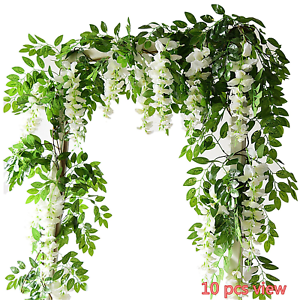 Artificial flowers silk wisteria ivy vine green leaf hanging garland image is loading artificial flowers silk wisteria ivy vine green leaf mightylinksfo