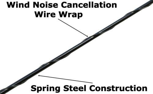 "15/"" Black Spring Stainless AM//FM Antenna Mast Fits 2007-2019 Jeep Wrangler"