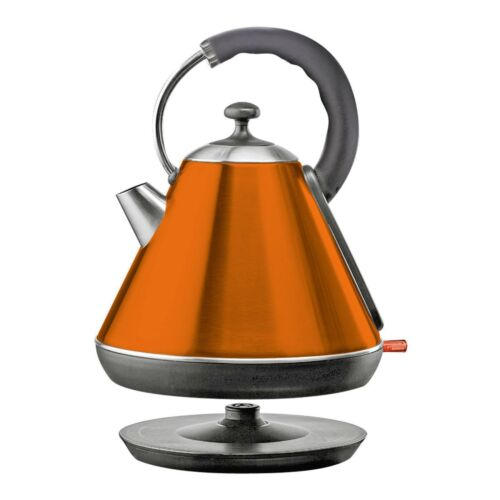 Orange 1.8L Cordless Electric Kettle 2200W Rapid Boil Washable Filter SQ Pro