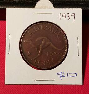 1939 Australian Penny coin
