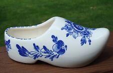Vintage Ceramic Show Planter Blue White Flower - TAIWAN - Estate