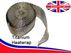 1-M-TITANIO-de-alta-temperatura-calor-tratados-Envoltura-De-Calor-De-Escape-Colector-Bajante