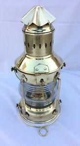 Nautical-Maritime-Vintage-Antique-Brass-Style-Hanging-Lantern-Lights-Oil-lamp