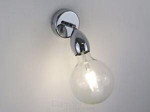 Applique lampada da parete moderno faretto e27 illuminazione bagno