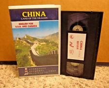CHINA documentary Land of Dragon VHS Bei Jing journey Forbidden City TIBET Xian