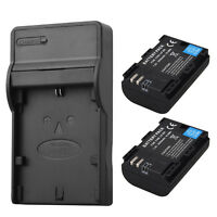 2x 2650mAh LP-E6 Batteries + Charger For Canon EOS 5DS R 5D Mark II Mark III 80D
