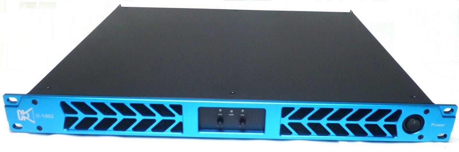 CVR D-1002 Series Professional Power Amplifier 1 Space 1000 Watts x2 at 8Ω Blau