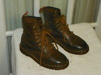 Vtg Dr. Martens Air Wair Brown Leather Ankle Boots England Women's sz UK 4 US 6