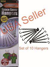 Space saver hangers 10 Pc closet organizing racks multiple clothes hanger holder