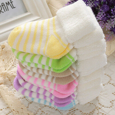 3 pairs/Set Newborn Infant Boys Girls Baby Non-slip Neonatal Cotton Socks Boots