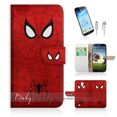 ( For Samsung S4 ) Wallet Case Cover! Spiderman Super Hero P0157
