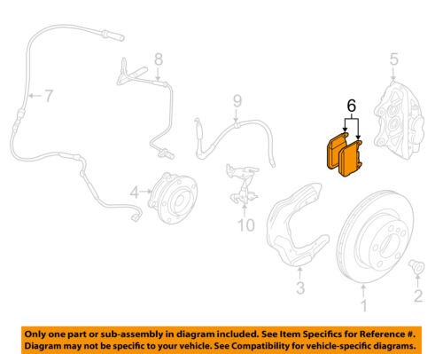 BMW OEM 15-18 M4 Brake-Front Pads 34112284969