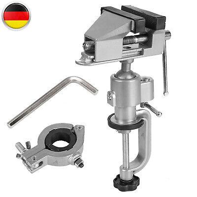 Mini Schraubstock Drehbar 360°Tischschraubstock,Werkbank Modellbau Schraubstock