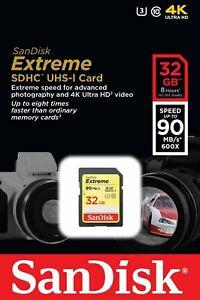 Tarjeta-de-memoria-para-SanDisk-32GB-Class-10-Extreme-UHS-I-U3-SD-Karte-90MB-s