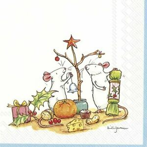 LITTLE-CHRISTMAS-TREE-Mice-33cm-sq-paper-lunch-napkins-20-in-pack