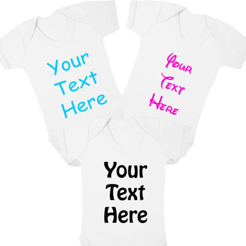 Personalised Baby Grow Baby Vest Gift Funny Christening Bodysuit Your Text Here
