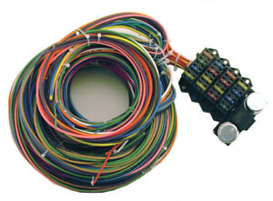 details about 21 circuit rebel wiring harness pt 8870 universal street rod rat rod usa made car wiring harness rebel wiring harness #13