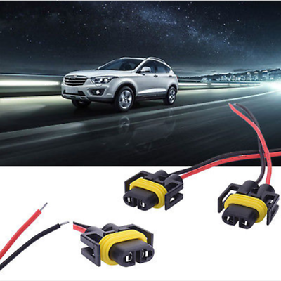 2x H11 H8 Headlight//Fog Light Female Adapter Harness Socket Wire Cord Connector